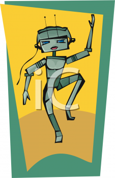 Girl Robot Dancing