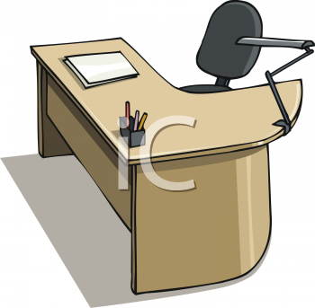 Royalty Free Clip Art Image Modular Desk And Chair