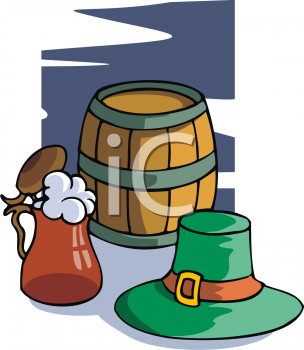 A Keg With A Leprechaun Hat And A Stein Of Beer