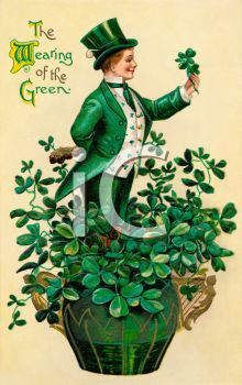 A Saint Patricks Day Card In A Victorian Style
