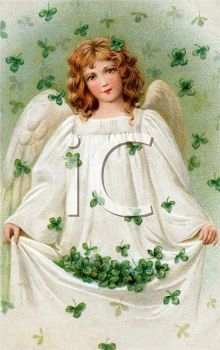 An Angel In A Rain Of Shamrocks