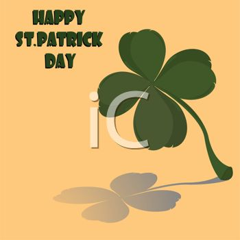 A Four Leaf Clover With A Happy Saint Patricks Day Message