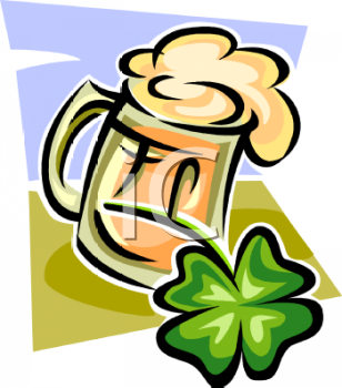 Mug of Ale with a Four Leaf Clover