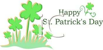 Happy St Patrick's Day Greeting - Royalty Free Clipart Image