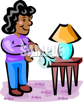 An African American Woman Dusting A Table