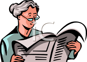 Grandma Reading the Newspaper