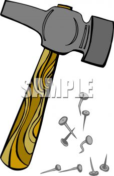 Hammer And Nails Royalty Free Clip Art Illustration