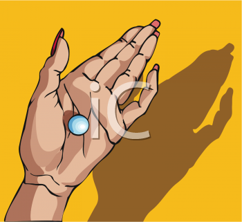 Pill in a Woman's Hand