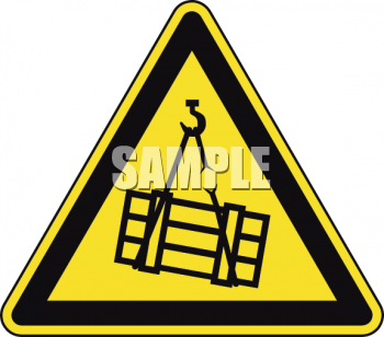Safety Triangle for Shipping Cargo Area