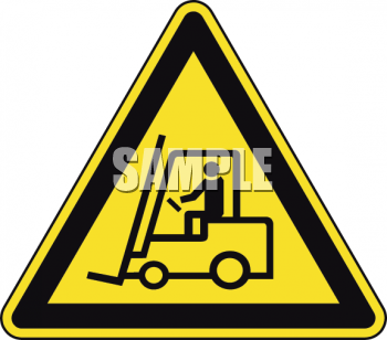 Safety Triangle for Forklift in Use