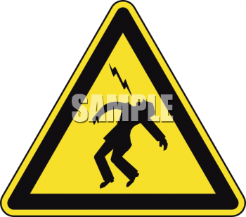 Safety Triangle for Lightening or Electricity Hazard