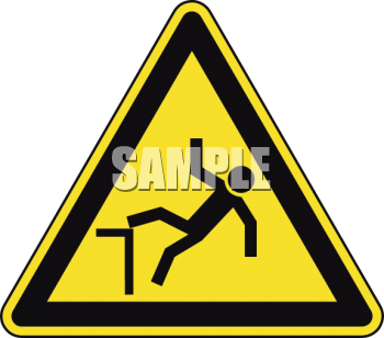 Safety Triangle for Falling Hazard