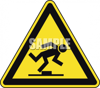 Safety Triangle for Tripping Hazard