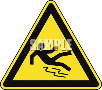 Safety Triangle for Slipping Hazard