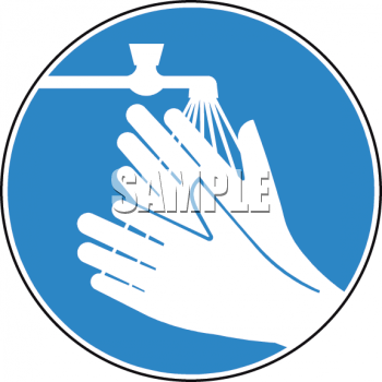 Free clipart image sign for washing your hands to prevent germs