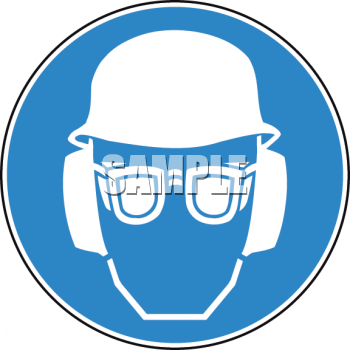 Sign for Safety Goggles and Hard Hat Required - Royalty Free ...