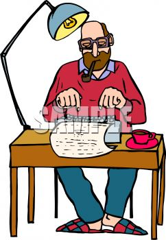 writer smoking a pipe while typing a story royalty free clip art image rh clipartguide com writing clip art app writers clip art free