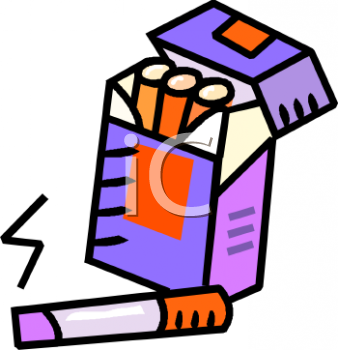 Cartoon of a Pack of Cigarettes