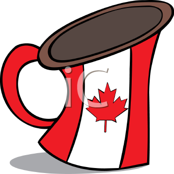 Canadian Maple Leaf on a Beer Stein
