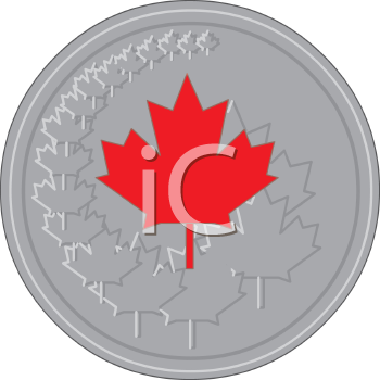 Canadian Maple Leaf on a Coin