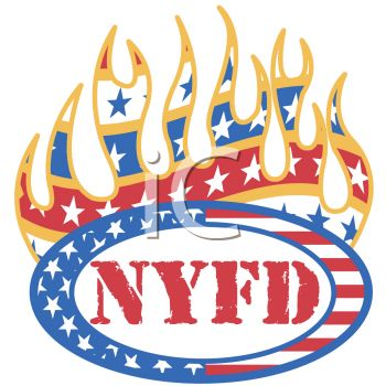 """This """"new york fire department logo"""" clipart image can be licensed as part"""