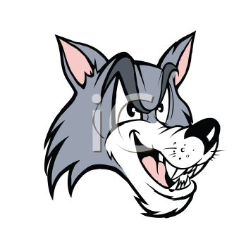 Cartoon Wolf Sports Mascot