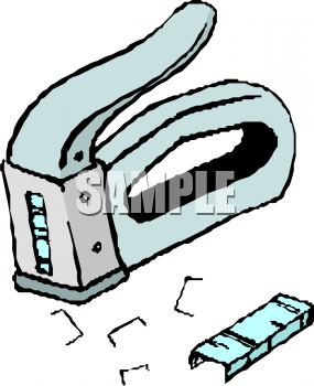 Staple Gun And Staples Royalty Free Clipart Image