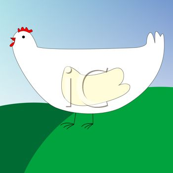 Cartoon of a Simple Chicken