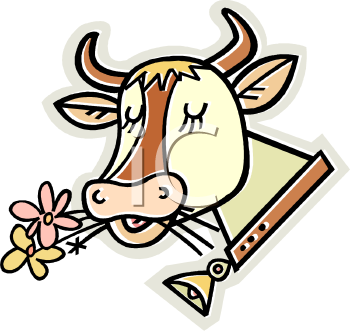 Cow with Flowers and a Bell