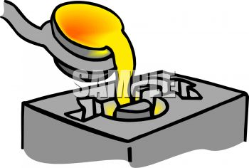 Molten Gold Being Poured Into a Mold
