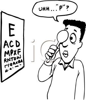 cartoon of a guy reading an eye chart royalty free clip art image rh clipartguide com eye doctor clip art images