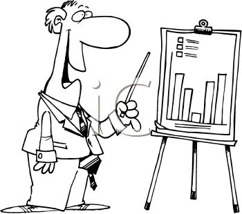 Businessman Showing a Growth Chart at a Presentation