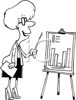 Businesswoman Showing a Growth Chart at a Presentation