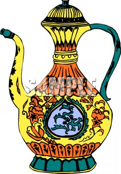 Elaborate Oil Pitcher