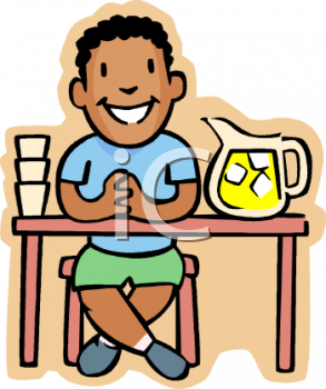 African American Boy Selling Lemonade