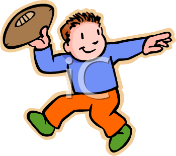 cartoon of a little kid throwing a football royalty free clipart image rh clipartguide com