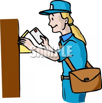 Mail Carrier Putting Letters in a Mailbox