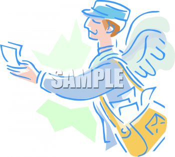 Mail Carrier with Wings