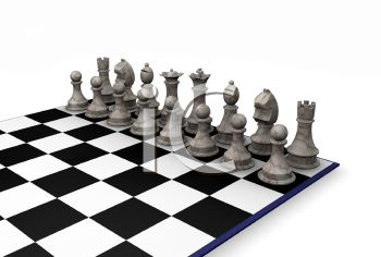 3D White Pieces in a Chess Game