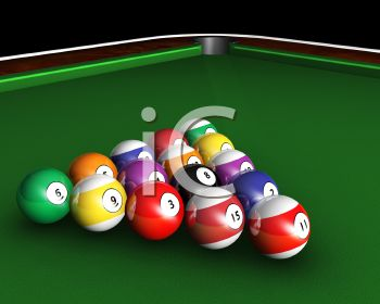 3D Pool Table with Balls