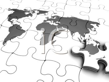 3D World Map Jigsaw Puzzle