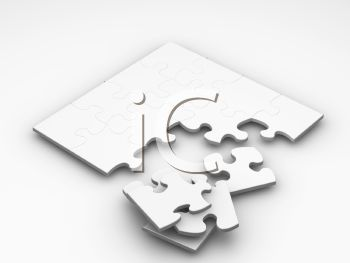 3D Jigsaw Puzzle and Pieces