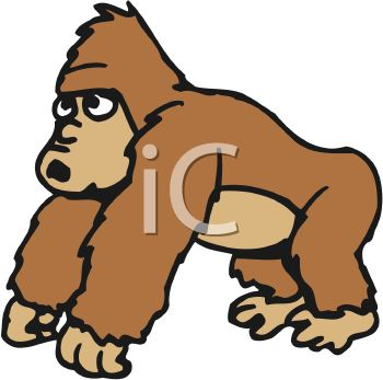 cartoon of a friendly gorilla royalty free clipart picture rh clipartguide com gorilla clipart gif gorilla clipart images