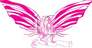 Pink Fairy with a Scroll