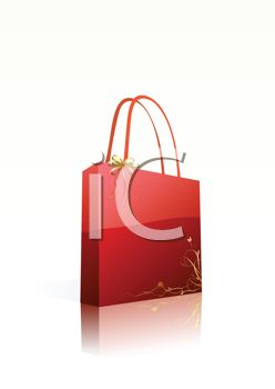 Red Christmas Shopping Bag
