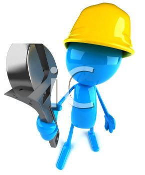 Workman with a Wrench 3D Computer Character
