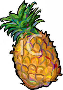 Comic Style Pineapple