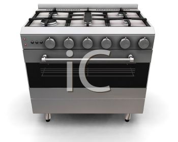 3D Gas Stove and Oven