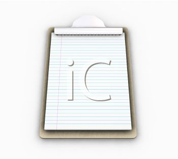 3D Clipboard with Lined Note Paper