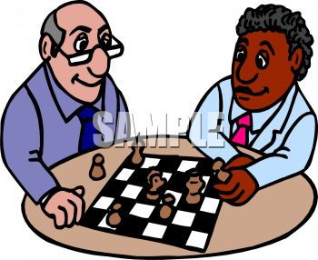 Two Friends Playing Chess
